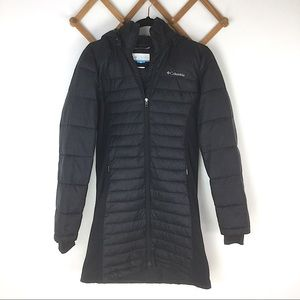 Columbia Black Long Quilted Puffer Winter Jacket
